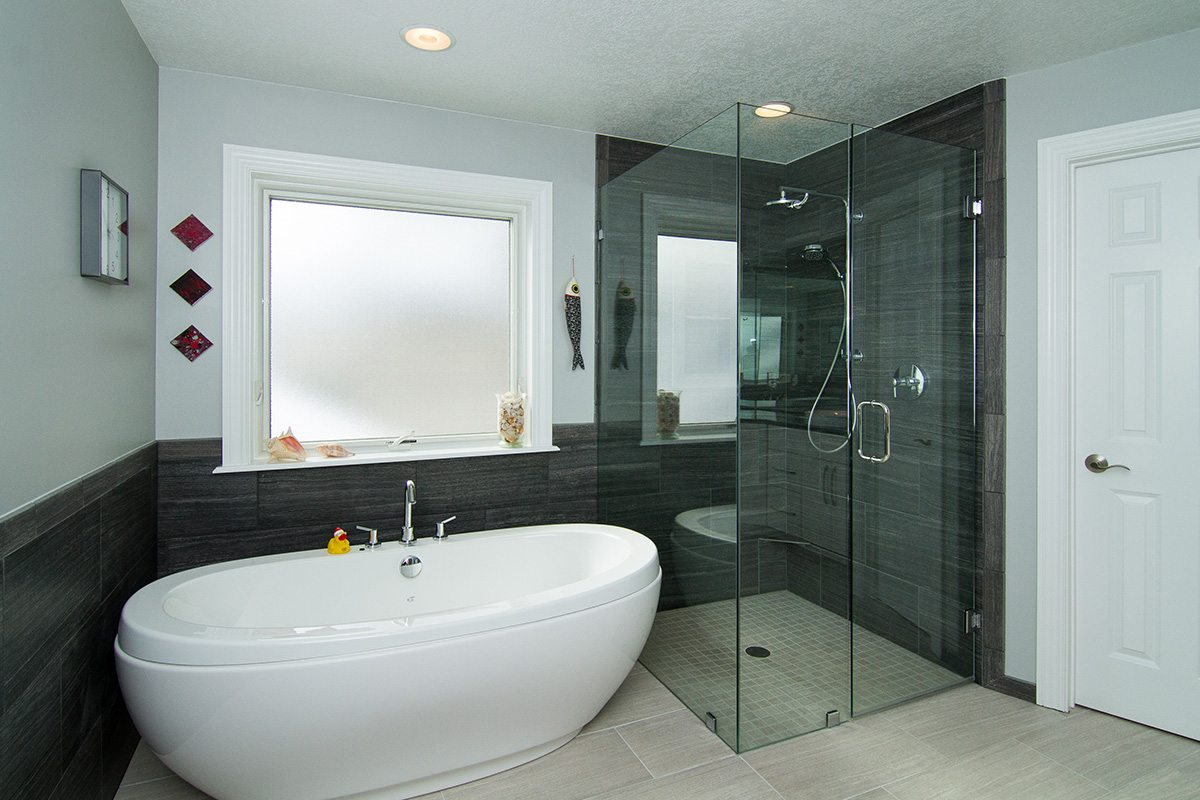 sleek master bath reno architecture